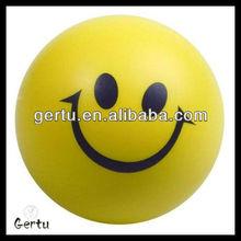 Customize logo imprint smile face cheap stress ball