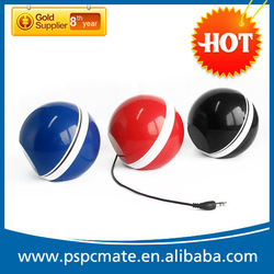portable mini ball round mobile speaker/round cell phone speaker