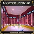 elegante de acrílico de la moda de joyería estante de exhibición con lailuminación led para boutique de diseño