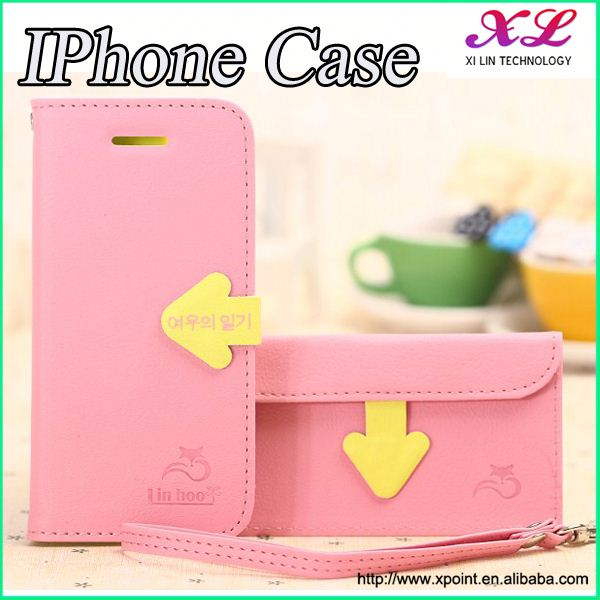 Pu phone case+TPU back cover armband case for iphone 4 4s