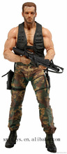 plastic real military man soldier action figure toy with a gun