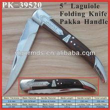 (PK-39520) 5 Inch Long Laguiole Pakka Decorate Bee Inlaid Handle Pocket Folding Knife