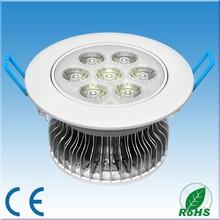7W LED Down light Daylight white 4500K, high power Bridgelux LED chip