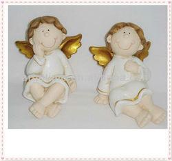 christmas decorative glitter ceramic angel figurines