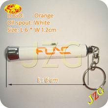 Orange logo projected 6cm lenghth flashlights mini keyfinder