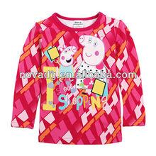 F4243 Girls fashion design child t-shirt Nova branded t-shirts