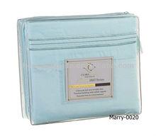 1800 thread count luxury egyptian cotton sheet set in light blue