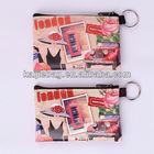 Custom PU london souvenir bag wholesales zipper key card holder
