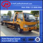 JAC Flat low bed road wrecker tow truck for sale 3ton JDF5061TQZJAC