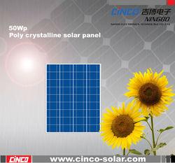 50W poly crystalline solar panel, price per watt solar panels in india