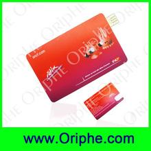 china market usb flash drive promotional super thin credit card usb flash drive 64MB to 128GB