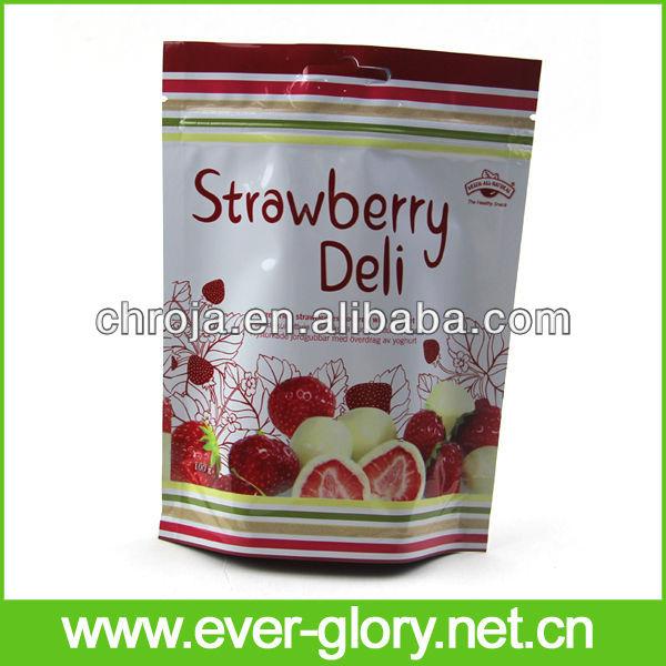 3 camadas estratificadas frutas secas folha de embalagem bolsa de plástico