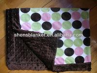 minky print baby blanket