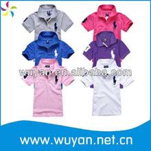 2013 newest cotton polo t shirt children/wholesale t shirts cheap t shirts in bulk plain/t shirts price