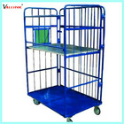 Foldable and Movable Wire Rolling Storage Cage