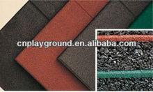 (A-22902 )EN1177 CERTIFICATED PARK USE 2.5CM RUBBER TILES OUTDOOR PATIO