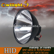 240mm 100W handheld spotlight for hunting,camping,fishing,maring,searching outdoor Light,high quality hid spot driving light 9''
