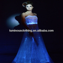 Fashionable beautiful optic fiber pageant dresses girls