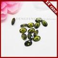 taglio ovale di oliva scuro verde sintetico cz gemma