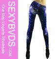 Brillants. femmequalité deep blue leggings. galaxie, beauté acryliqueleg fg0155