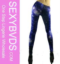 Shiny Woman Deep Blue Leggings Galaxy, Beauty Leg FG0155