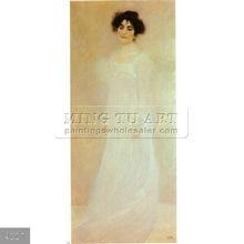 100% Handmade Gustav Klimt eroticism figure oil painting, Serena Lederer