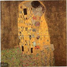 Handmade Gustav Klimt eroticism figure oil painting, El beso
