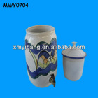 Two kissing fish Ceramic Water Container