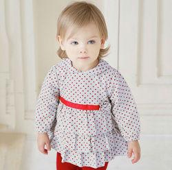 DB378 dave bella autumn100% cotton princess toddler dress baby clothes infant dress