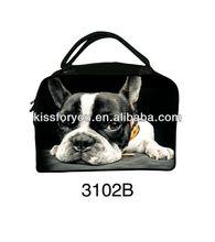2014 new fashion dog face printed large travel bag