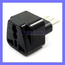 International Travel Grounded Adapter Plug for Italy Converts USA & European Plug to Italy Plug