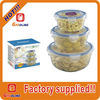 Factory supplied custom transparent take away food containers