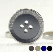 Boutique shirt button big button button suit wind snaps UV resin composite electroplating