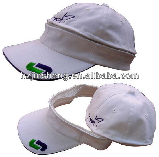 Foldable & Unique White Golf Sun Hat For Men wholesale