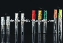 wholesale 2ml 3ml 4ml 5ml perfume glass vials glass testing tubes with plastic sprayer