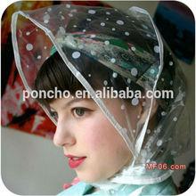 plastic rain hat/PE rain bonnet/PE rain hat