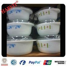 2.5L 1.5L 1L 3pcs Opal Glass Bowl Set/Casserole Set /Opal Glassware Oven And Microwave Safe Food Containers