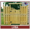 Decorative natural color wood rail fence