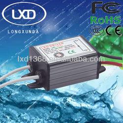 3W waterproof constant current led transformer with 300mA 350mA 450mA 600mA 700mA 900mA