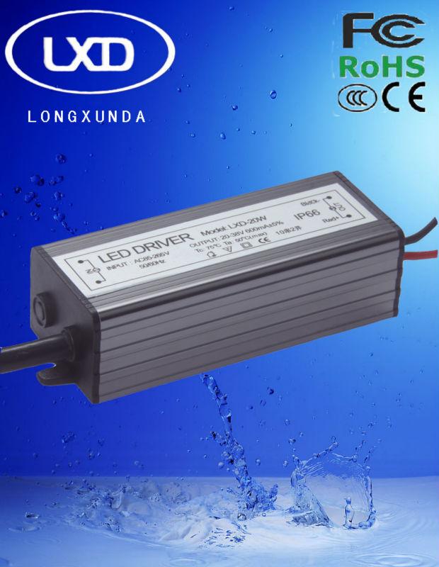 20-30W waterproof constant currentled led driver with 300mA 350mA 450mA 600mA 700mA 900mA