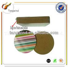 TWC1171 Tangwind Manufacturer Cheap price Stripe Round Cardboard Coaster