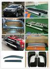 auto accessories 2013 toyota rav4 running board side step/roof rack/cross bar/mud flap/door visor/front bumper/grille guard