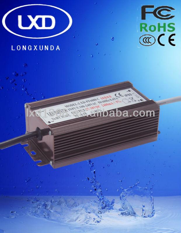 70 Вт водонепроницаемый постоянного тока 70 Вт из светодиодов драйвер с 300mA 350mA 450mA 600mA 700mA 900mA