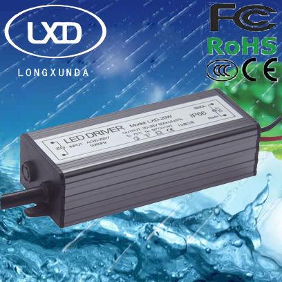 40W waterproof constant current led transformer with 300mA 350mA 450mA 600mA 700mA 900mA