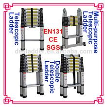 Aluminum telescopic step ladder