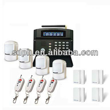 English language Voice prompt Intruder alarm system security for house with 4 motion detectors/4wireless door/window sensor G50B