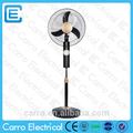 Projeto o mais novo 16 polegadas 12v ac dc ventilador elétrico portátil com os fãs do painel solar da cc- 12v16k