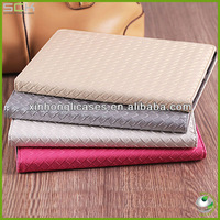 Fashion Woven Pattern Smart Leather Cover For IPAD2/3/4 CASE