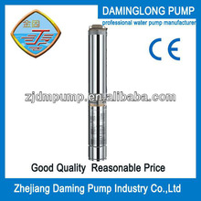 4SD6/52 7.5kw/10hp 52stage 335m head low volume electric water pumps