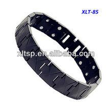 XLT-85-1 Mens Black Plated Magnetic Bracelet Anti-static Magnetic Bracelet
